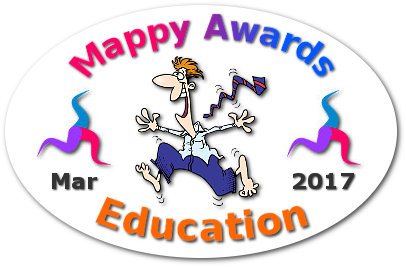 "Mappy Awards March 2017 'EDUCATION' Winner by ""Philippe Packu"" ""Roman Numerals Mind Map"""