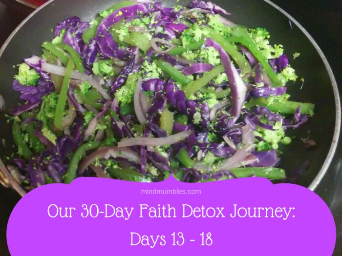 Our 30-Day Faith Detox Journey- Days 13 - 18