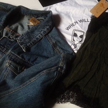flatlay, denim jacket, cheep clothing, cheep perth, cheep australia