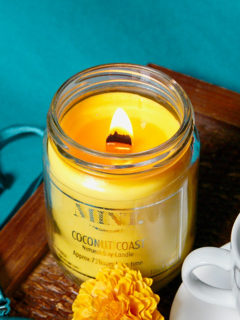 mint organic care, abuja skincare brand, scented candle