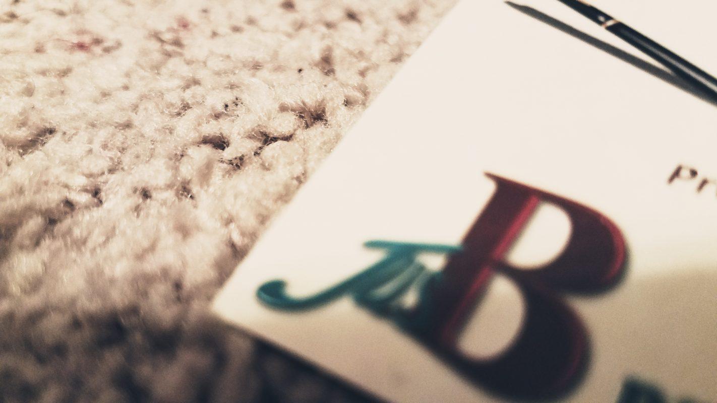 jusb proofreading business card closeup
