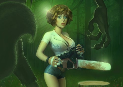 the_girl__the_chainsaw_and_the_by_papaninja