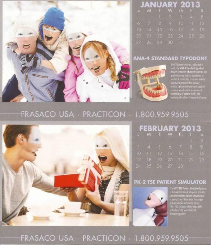frasaco 2 680x790 Dieser Zahnarzt Übungsdummy Kalender kommt direkt aus der Hölle
