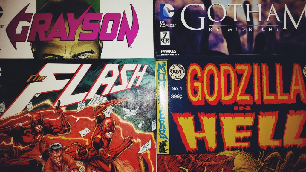 Meine Comickäufe vom 22.07.2015 (Godzilla in Hell, Grayson, Gotham By Midhnight, Flash)