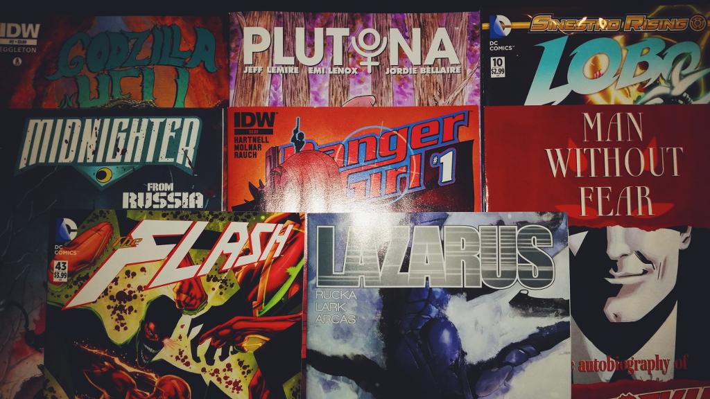 Mein Comic Haul vom 02. September 2015 (Danger Girl, Lazarus, Daredevil, Plutona, Midnighter, Lobo, Flash)