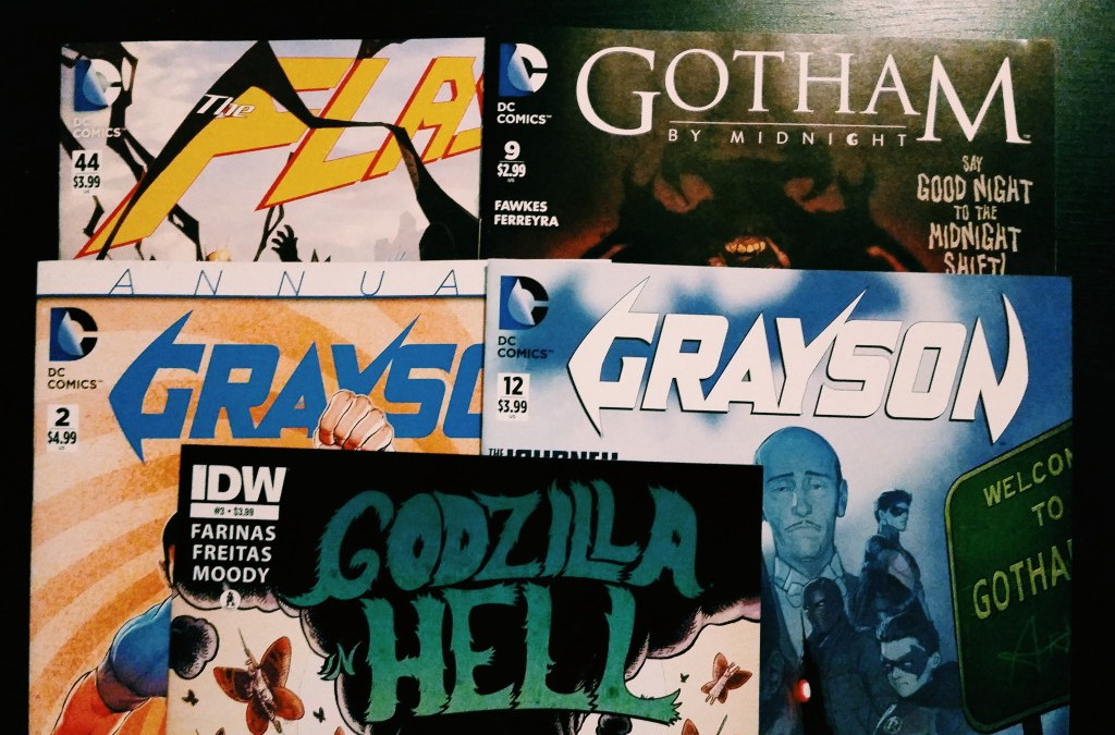 Mein Comic Haul vom 30. September (Flash, Grayson, Godzilla in Hell, Gotham by Midnight)