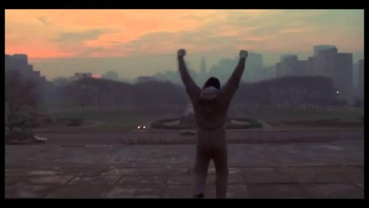 """Der Treppenaufstieg aus """"Rocky"""" ohne die Musik"""