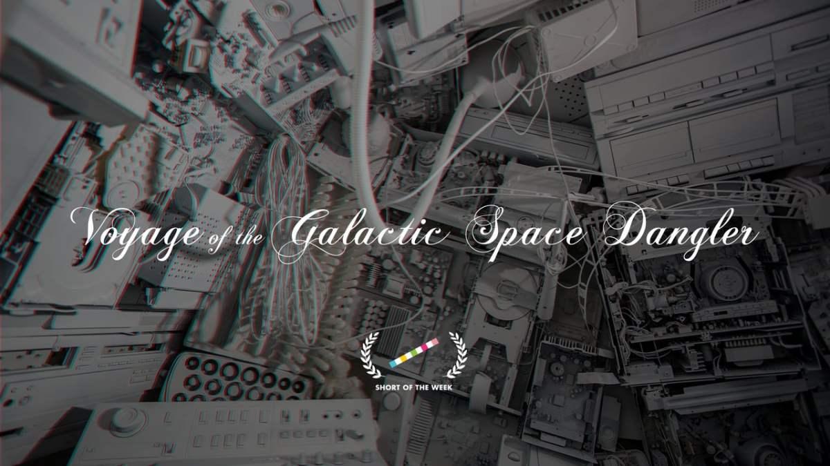 """Im komplett surrealen Kurzfilm """"Voyage of the Galactic Space Dangler"""" treffen ein Astronaut und ein Steinzeitmensch aufeinander"""