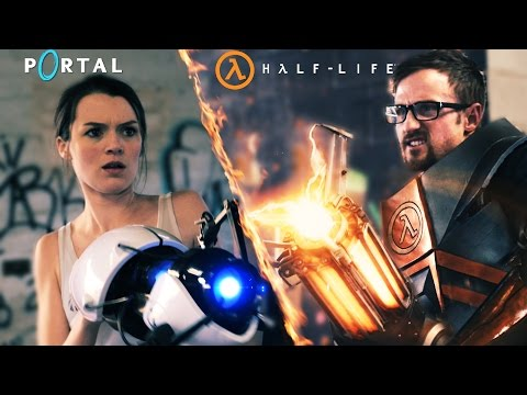 """Im Kurzfilm """"Portal vs. Half Life"""" kämpfen Chell und Gordon Freeman um Kuchen"""