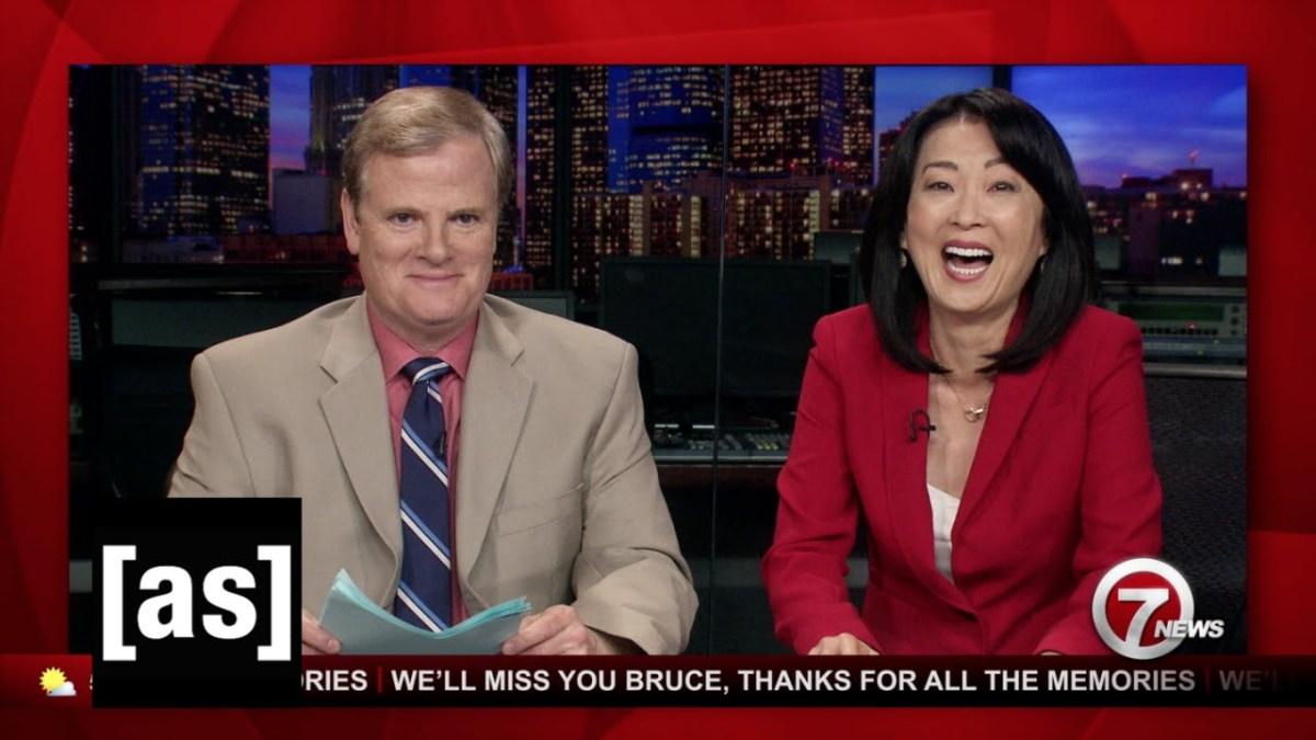 News Blooper sind wirklich nur lustig, wenn sie ganz furchtbar sind – und ausgedacht von bspw. Adult Swim
