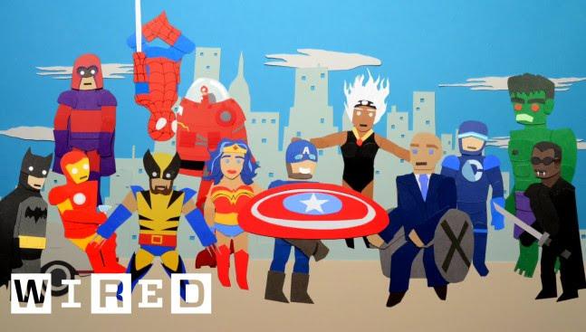 Eine Stop-Motion-Animation über den Kampf von DC Comics und Marvel an den Kinokassen