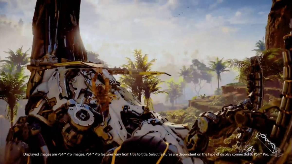 """Das Gameplay von """"Horizon Zero Dawn"""" (das Spiel mit den Roboterdinosauriern) sieht immer noch toll aus"""