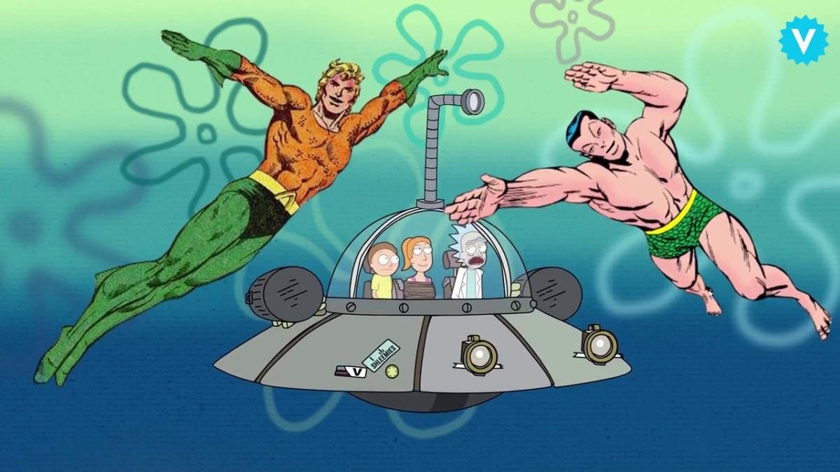 """Das Cast von """"Rick and Morty"""" improvisiert eine """"SpongeBob Schwammkopf""""-Crossover-Episode"""