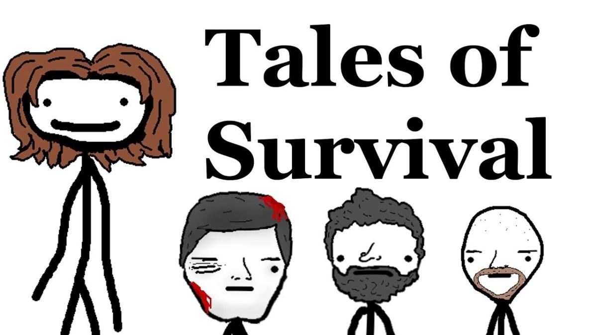 Absurde Überlebensgeschichten, aber als schlechter Cartoon