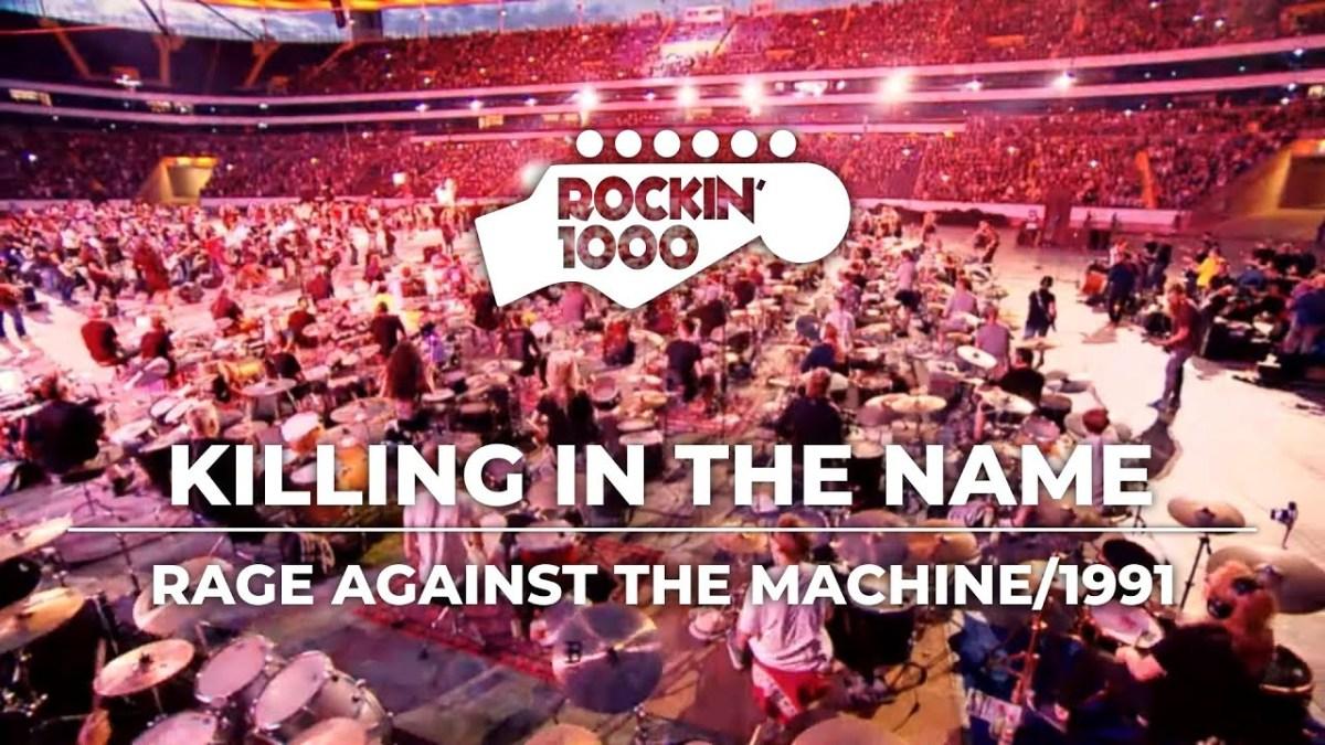 """1000 Musiker spielen """"Killing in the Name"""" von Rage Against the Machine"""