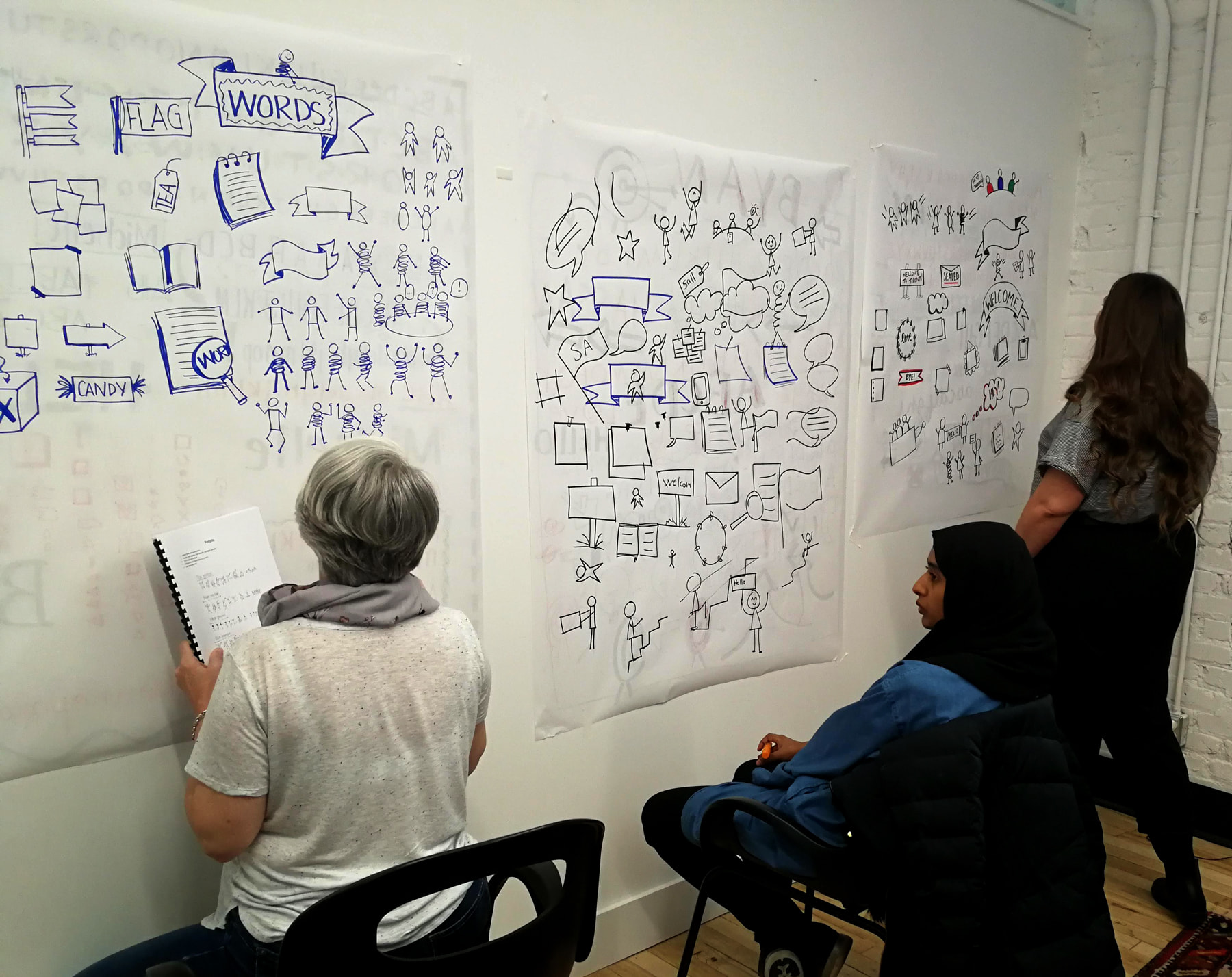 Workshop participants at Graphic Recording 101 in Toronto