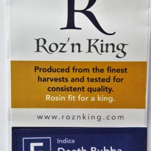 Buy Death Bubba Rosin Flower (Roz'n King) here