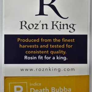 Buy Death Bubba Rosin (Roz'n King) - 1 gram here