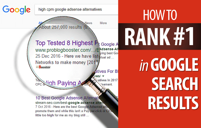 What We Should Do To Rank First In Google Search Results?