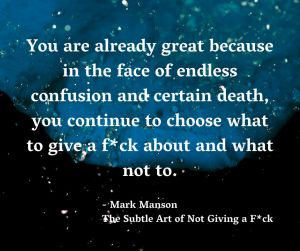 Inspirational Quote from Mark Manson