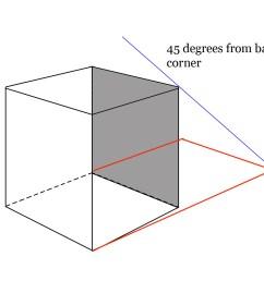 cube cast shadow for upper left lighting [ 1133 x 977 Pixel ]