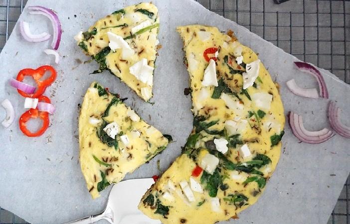 frittata spinazie geitenkaas 2.0