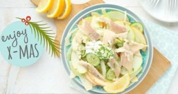 venkel appel salade met gerookte forel