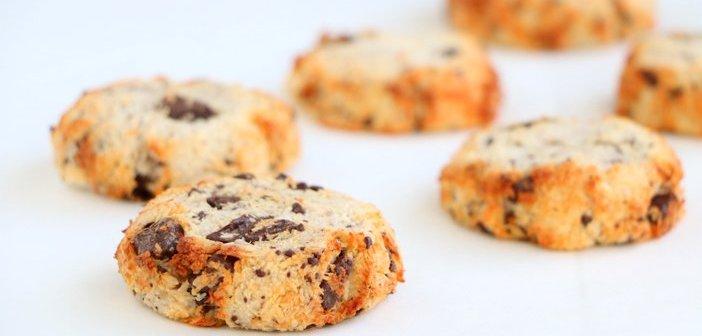 kokos koekjes met pure chocola