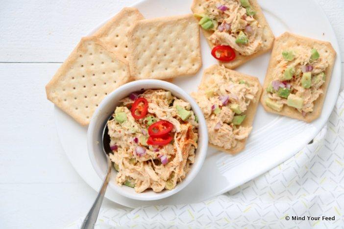 salades voor op toast