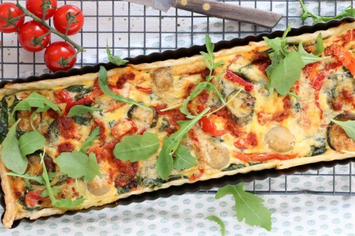 Italiaanse quiche met gegrilde groenten