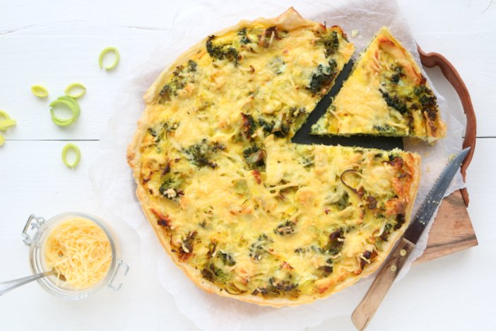 quiche met broccoli