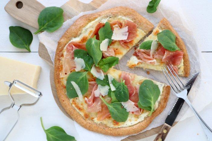 havermout pizza bianco