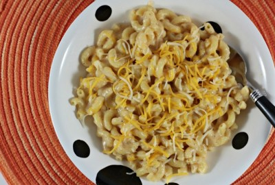 Homemade Macaroni & Cheese is a great alternative to the boxed kind. Much better for you, it is cheesy, creamy and delicious. Classic comfort food!
