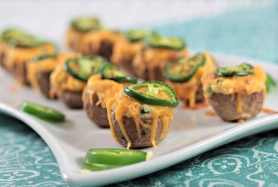 Jalapeno Potato Poppers feature jalapenos, cream cheese, bacon and cheddar cheese stuffed into a mini potato. Like twice baked potatoes. Just 5 ingredients!