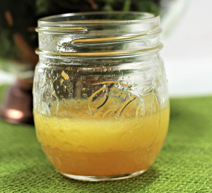 My 3 Ingredient Orange Vinaigrette combines fresh orange juice and zest with olive oil and white wine vinegar to make an easy homemade salad dressing.