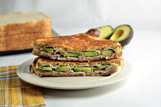 Grilled Turkey Avocado Ranch Cream Cheese Sandwich