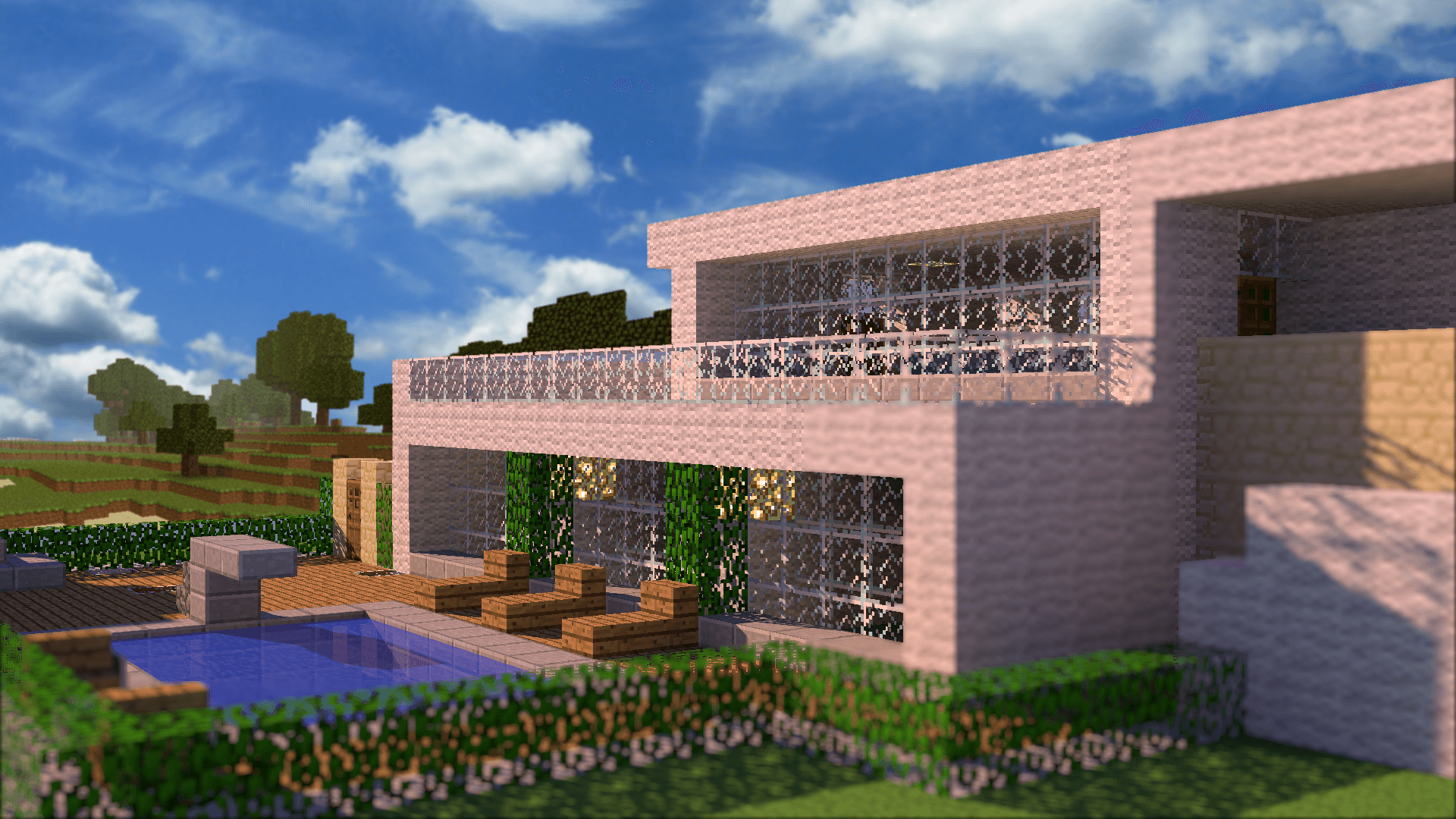 Plan maison moderne minecraft maison de plainpied with for Maison moderne feber