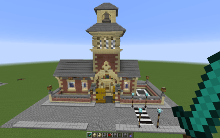 School With Bell Tower creation 2826