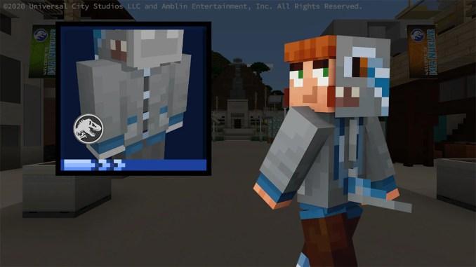 """Der neue Blue Hoodie aus dem """"Minecraft – Jurassic World-DLC""""."""