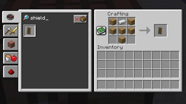 taking inventory shield minecraft