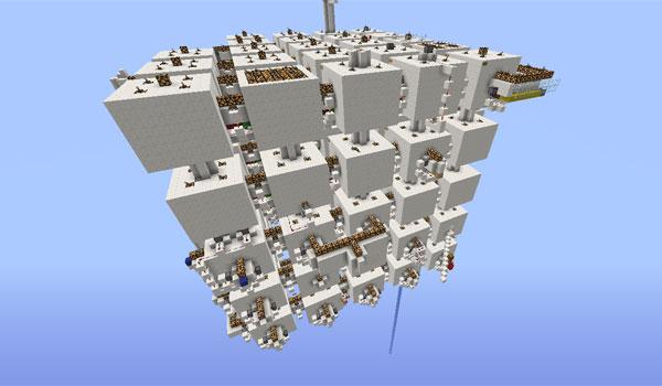 imagen donde vemos la totalidad del complejo de habitaciones, en complex map.
