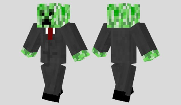 Business Creeper Skin for Minecraft