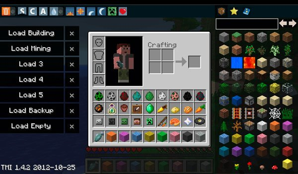 Too Many Items Mod for Minecraft 1.7.2 and 1.7.10