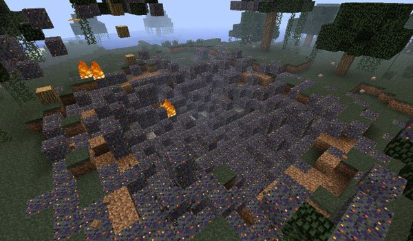 Falling Meteors Mod for Minecraft 1.7.2 and 1.7.10