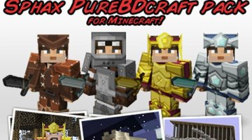 Sphax PureBDCraft Texture Pack for Minecraft 1.10 and 1.9
