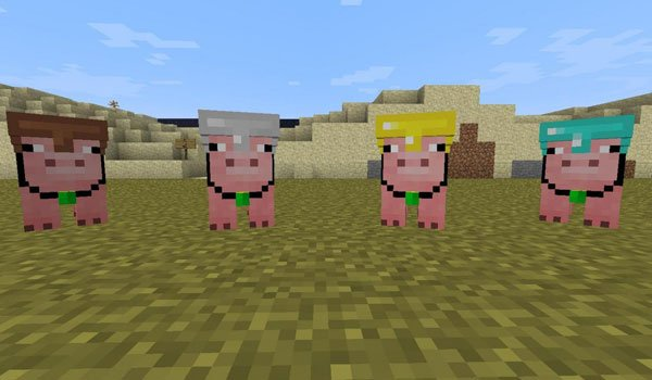 Pig Companion Mod for Minecraft 1.7.2 and 1.7.10
