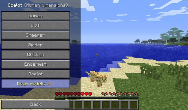 Shape Shifter Z Mod for Minecraft 1.6.2 and 1.6.4