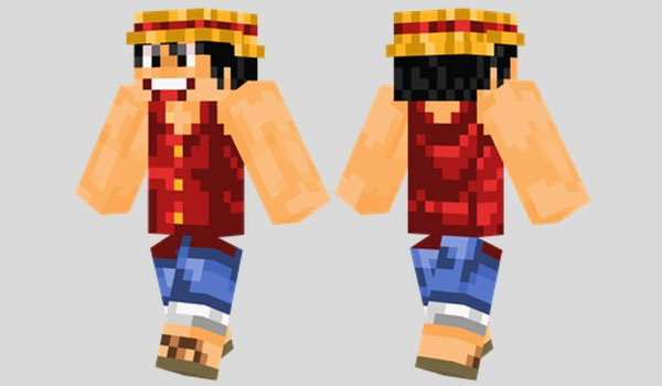Monkey D. Luffy Skin for Minecraft