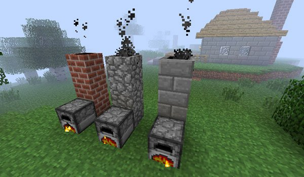 Smoking Chimney Mod for Minecraft 1.2.5