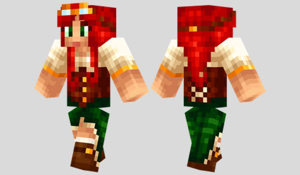 Steampunk Girl Skin for Minecraft